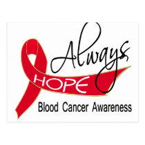 Always Hope Blood Cancer Postcard