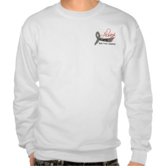 Always Hope Brain Tumor Pull Over Sweatshirt