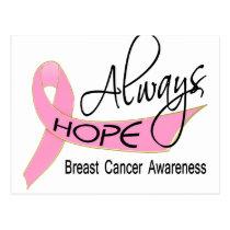 Always Hope Breast Cancer Postcard