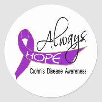 Always Hope Crohn's Disease Classic Round Sticker