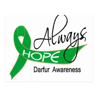 Always Hope Darfur Postcard
