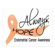 Always Hope Endometrial Cancer Postcard
