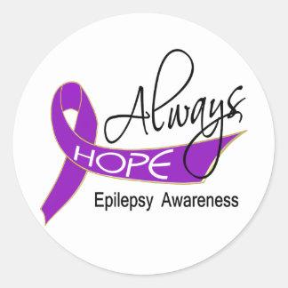 Always Hope Epilepsy Classic Round Sticker