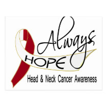 Always Hope Head Neck Cancer Postcard