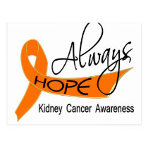 Always Hope Kidney Cancer Postcard