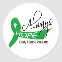 Always Hope Kidney Disease Classic Round Sticker