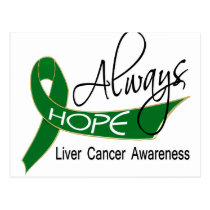 Always Hope Liver Cancer Postcard