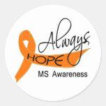 Always Hope MS Round Stickers