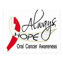 Always Hope Oral Cancer Postcard