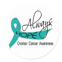 Always Hope Ovarian Cancer Classic Round Sticker