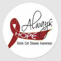 Always Hope Sickle Cell Disease Classic Round Sticker