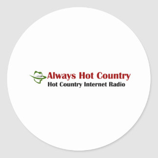 Always Hot Country Merchandise Classic Round Sticker