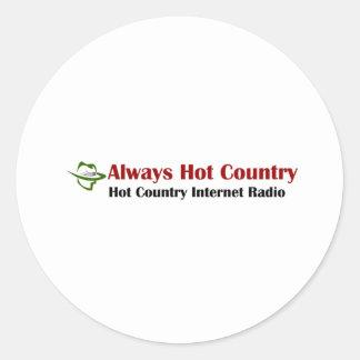 Always Hot Country Merchandise Classic Round Sticker