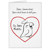 Bird lost themed gifts for bird parents whose birds have gone to the rainbow bridge