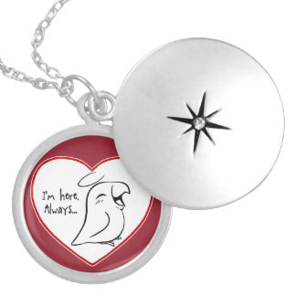 Always in my heart silver plated necklace