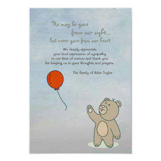 Always in our Heart Bereavement Thank You Card