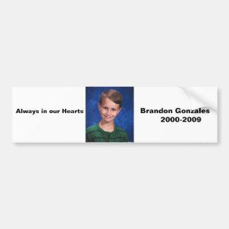 """Always in our Hearts"" bumper sticker Car Bumper Sticker"