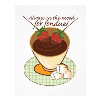 Always in the mood for fondue! personalized letterhead