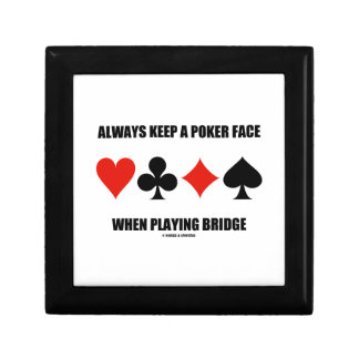 Always Keep A Poker Face When Playing Bridge Jewelry Box