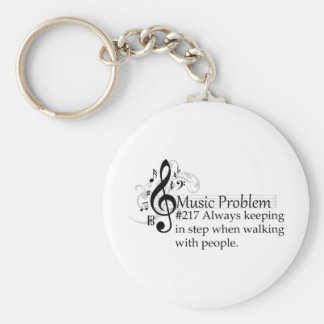 Always keeping in step when walking with people. keychain
