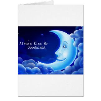 always kiss me good night greeting card