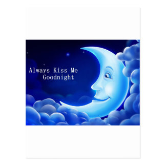 always kiss me good night postcard