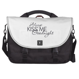 ALWAYS KISS ME GOODNIGHT LOVE MARRIAGE RELATIONSHI LAPTOP COMMUTER BAG