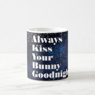 Always Kiss Your Bunny Goodnight Typography Coffee Mug