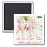 Always Know That You Are Loved - White Rabbits 2 Inch Square Magnet
