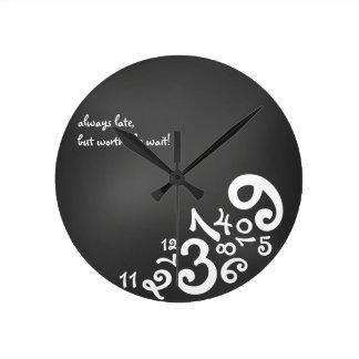 Always Late : Circle Wall Clock