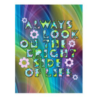 always look on the bright of side life tarjetas postales