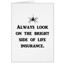 always-look-on-the-bright-side-of-life-insurance greeting card