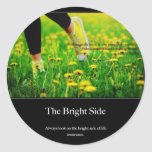 Always look on the bright side of life, insurance. round sticker