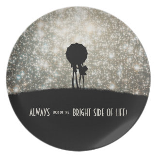 Always look on the bright side of life! melamine plate