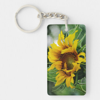 """Always Look on the Bright Side of Life"" Sunflower Keychain"