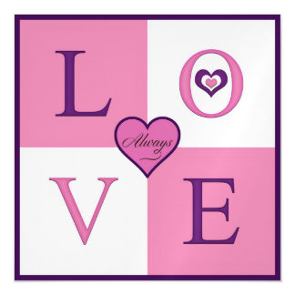 Always Love Square Magnetic Card