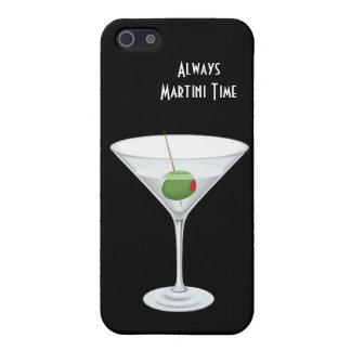 ALWAYS MARTINI TIME Happy Hour Martini Glass Cover For iPhone SE/5/5s