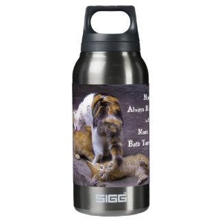 Always Multitasking: Mama Cat's Bath Time Helper Insulated Water Bottle