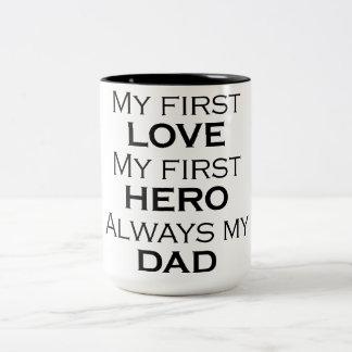 ALWAYS MY DAD Two-Tone COFFEE MUG