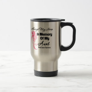 Always My Hero In Memory Aunt - Breast Cancer Coffee Mugs