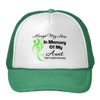 Always My Hero In Memory Aunt - Lymphoma Mesh Hat