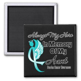 Always My Hero In Memory Aunt - Ovarian Cancer Fridge Magnet