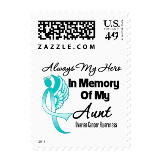 Always My Hero In Memory Aunt - Ovarian Cancer Stamps