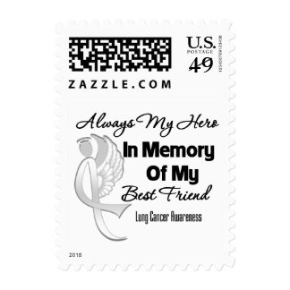 Always My Hero In Memory Best Friend - Lung Cancer Postage Stamp