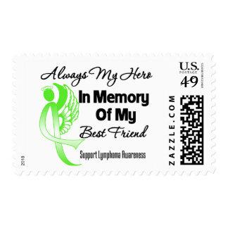Always My Hero In Memory Best Friend - Lymphoma Postage Stamp