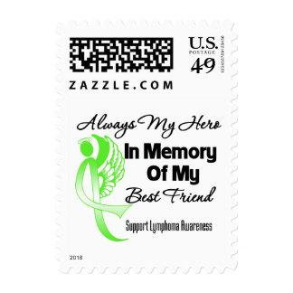 Always My Hero In Memory Best Friend - Lymphoma Stamps