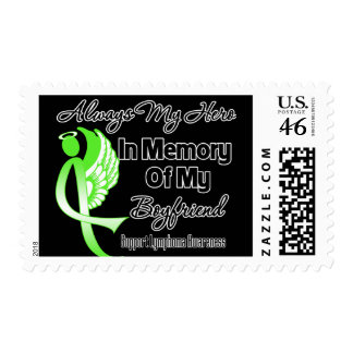 Always My Hero In Memory Boyfriend - Lymphoma Stamps