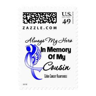 Always My Hero In Memory Cousin - Colon Cancer Postage