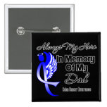 Always My Hero In Memory Dad - Colon Cancer 2 Inch Square Button