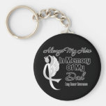 Always My Hero In Memory Dad - Lung Cancer Basic Round Button Keychain